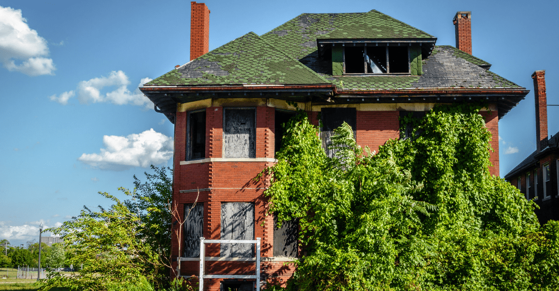 A run-down and distressed property.